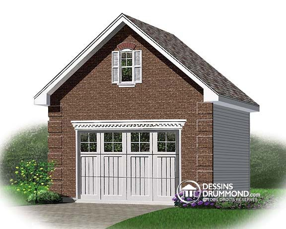 Cot De Construction DUn Garage Dtach  Dessins Drummond