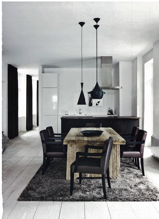 Modern/rustic in the dining room