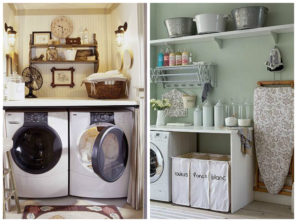 Practical ideas for the laundry room drummond house - Idees de rangement astucieux ...