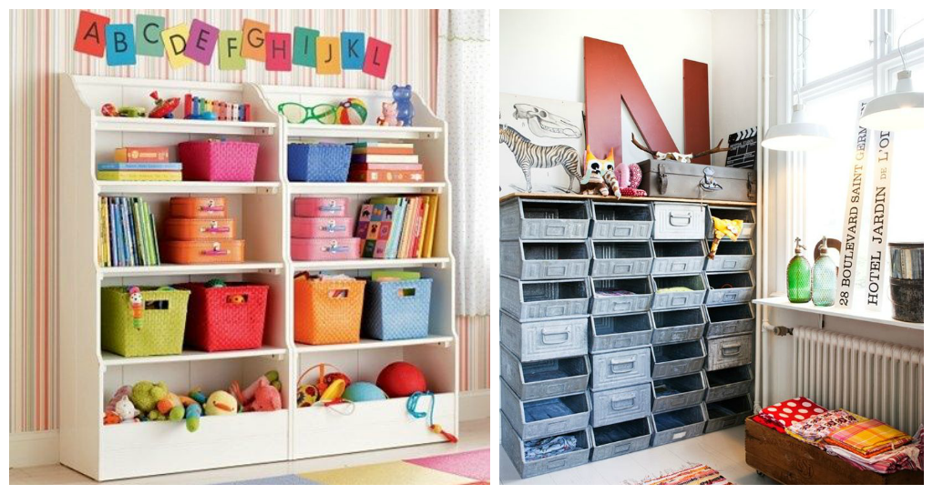 Decorating the playroom drummond house plans blog - Etagere avec bac rangement pour jouet ...