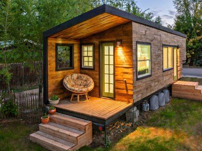 Country rustic tiny home - blog Drummond House Plans