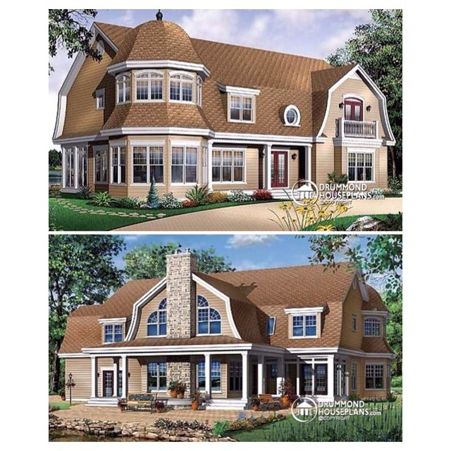 Traditional ranch home style ! (Plan no. 3845) #DrummondHousePlans #HousePlan #HomePlan