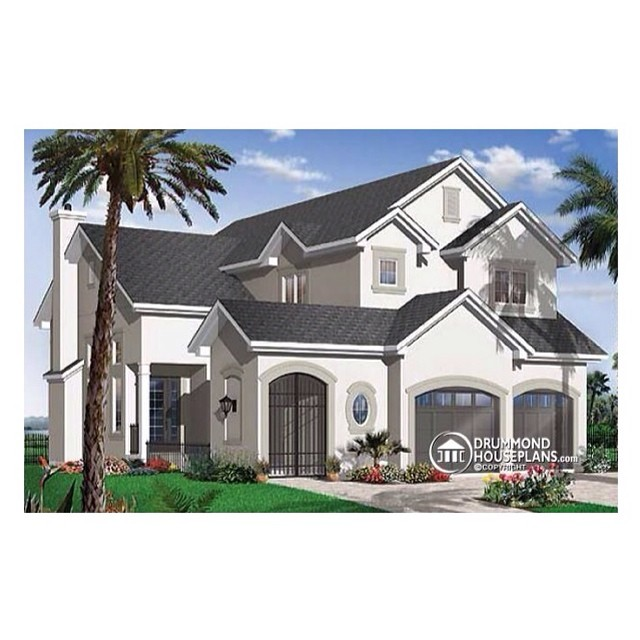 Mediterranean house plan designed by #DrummondHousePlans ! #HousePlan #HomePlan