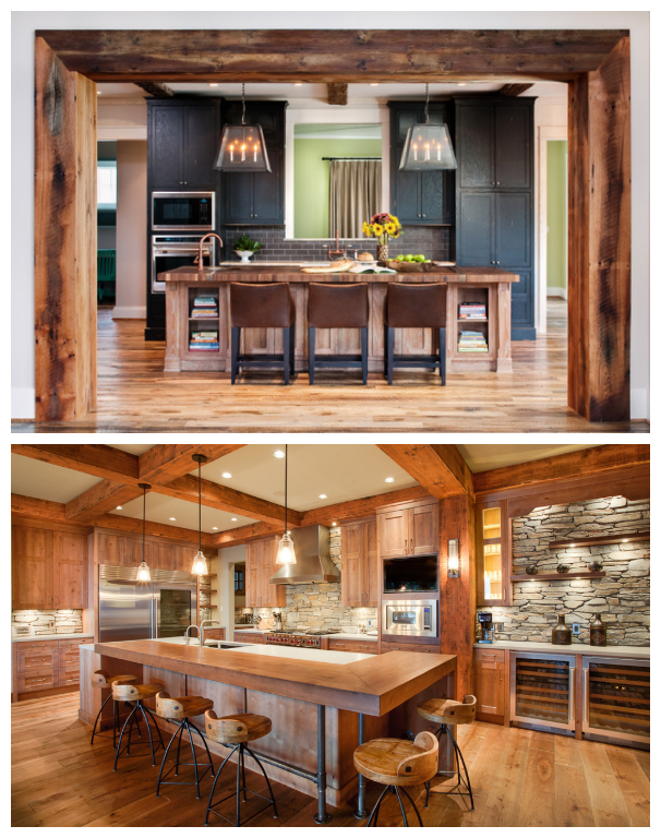 Rustic style for the kitchen drummond house plans blog - Modele de cuisine rustique ...