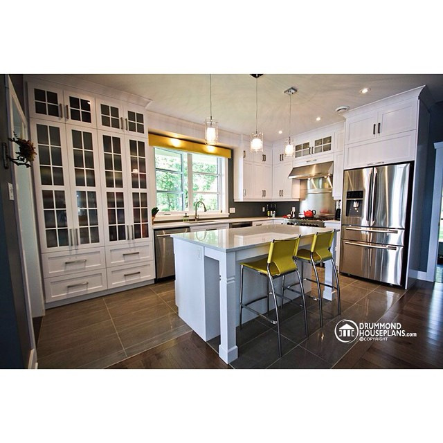 Beautiful kitchen design by #DrummondHousePlans