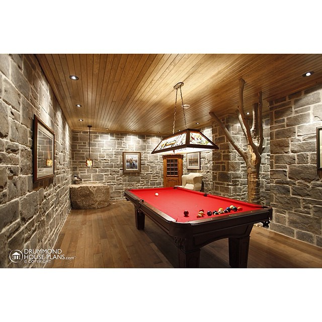 Good idea for the basement ! #DrummondHousePlans