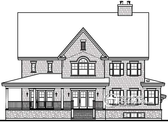 Collections of House Plans With Rear View Free Home Designs