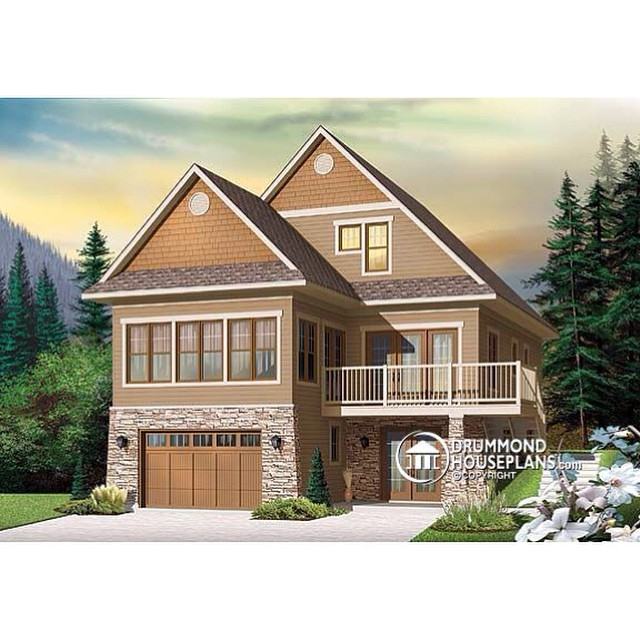 Ski season is coming, take a look at our ski chalets & mountain house plans collections here : www.drummondhouseplans.com/moutain-house-plans-and-ski-chalets.html (No. 3938) #DrummondHousePlans #HousePlans #HomePlan