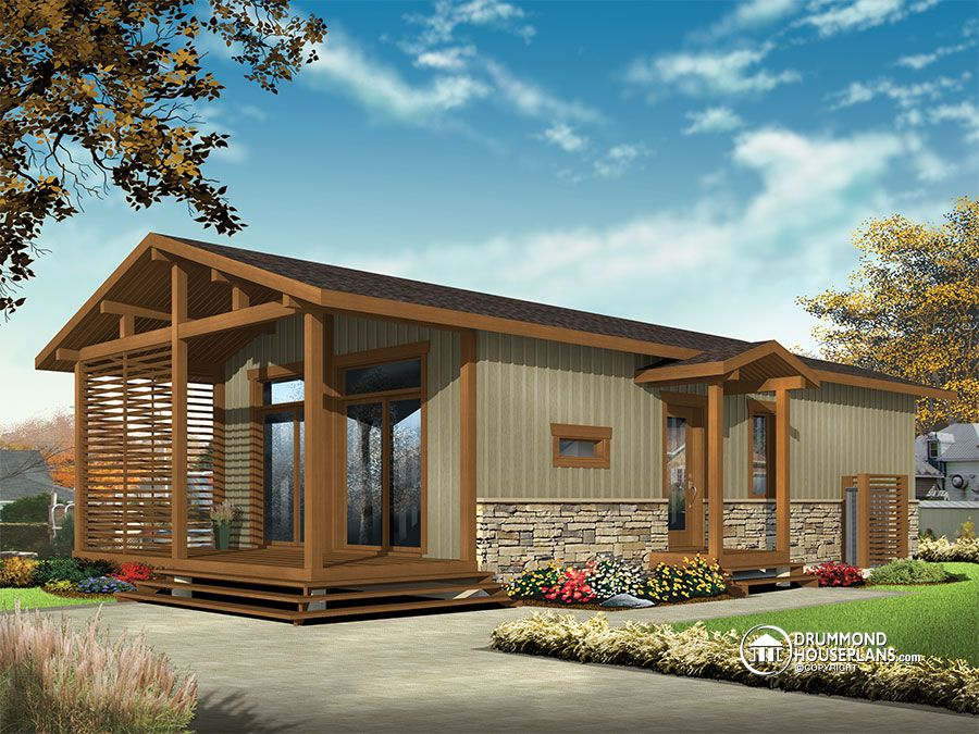 Tiny homes press release drummond house plans for Modern rustic farmhouse plans