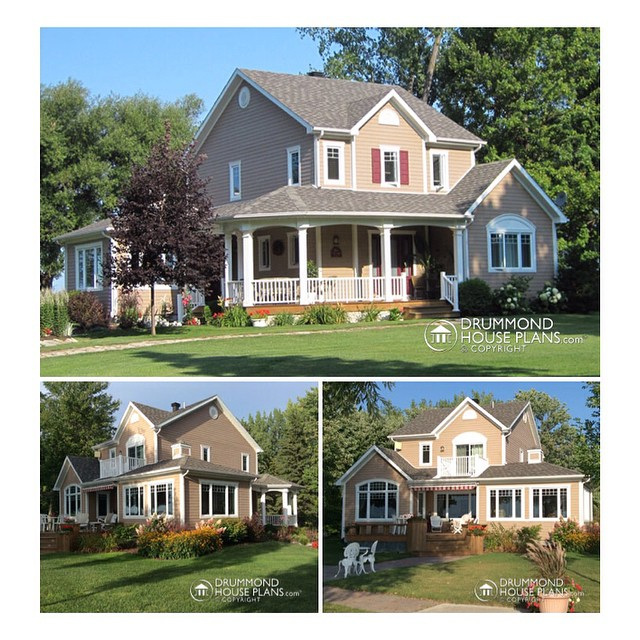 Custom home design by #DrummondHousePlans #HousePlan #HomePlan