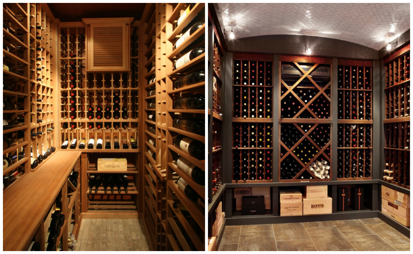 storing wine in a home wine cellar. Black Bedroom Furniture Sets. Home Design Ideas