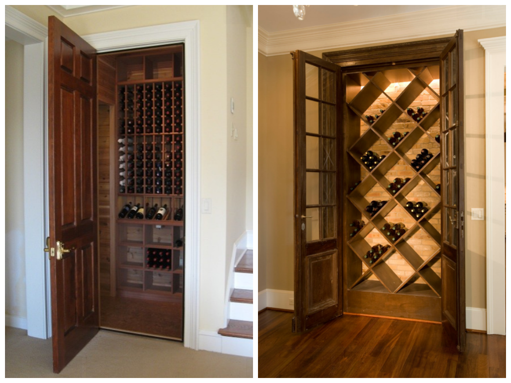 Cave vin r sidentielle blogue dessins drummond Turn closet into wine cellar