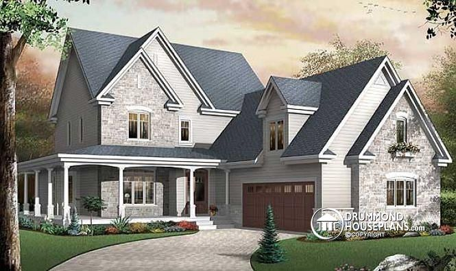 Colonial with 3 car garage