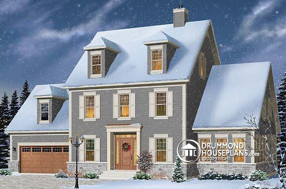 "House Plan of the Week: ""Colonial Classic With Flexible Attic"""