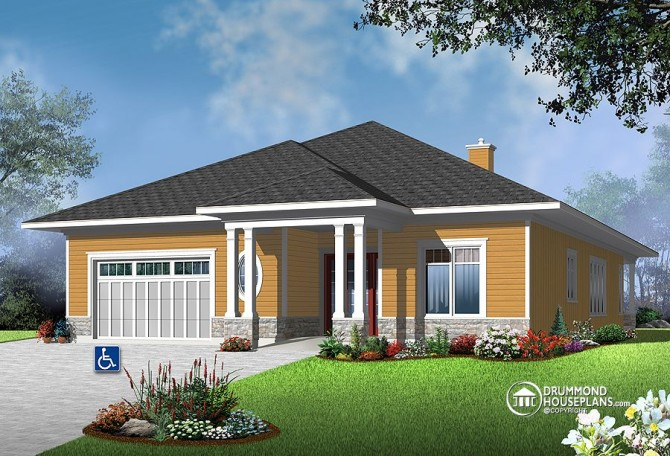"""House Plan of the Week: """"Fabulous Flow For Limited-Mobility Residents"""""""