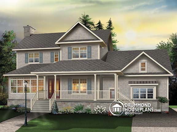 "Plan of the Week – ""Pleasing Proportions in Country-style Home"""
