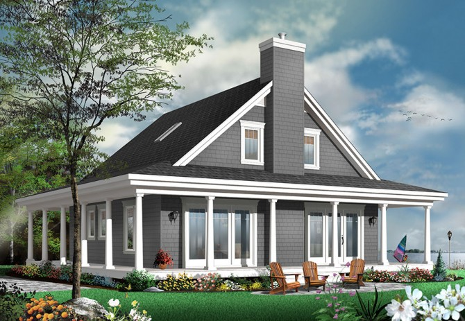 Country cottage house plan with room for a large family