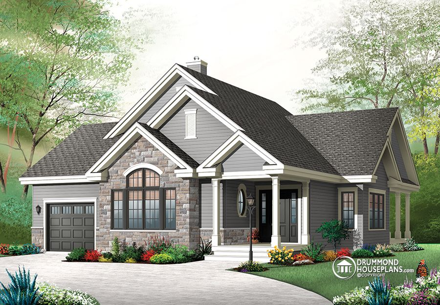 Craftsman Style Home # 3235 V2: Drummond House Plans U2013 Modern ...
