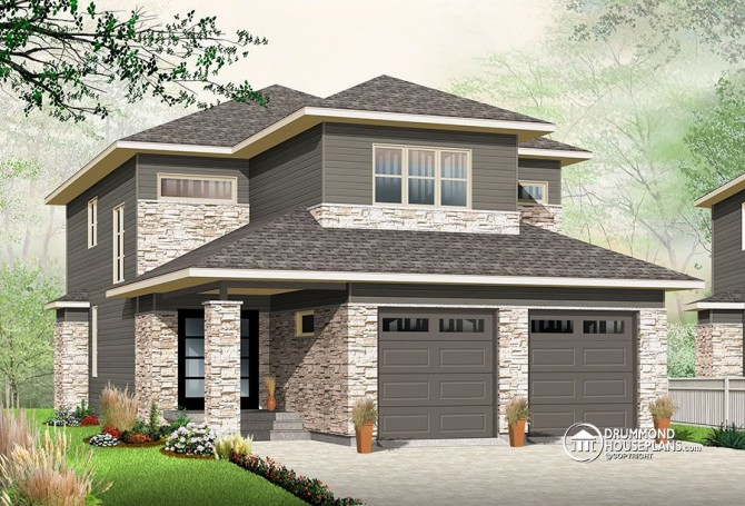Modern 2 storey house plan with Contemporary inspiration