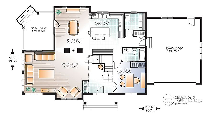 4 bedroom traditional house plan with rustic touches two for House plans with 3 master suites