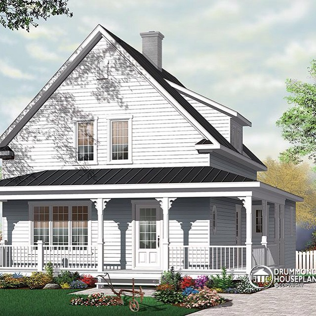 Do you love this modern farmhouse style ? (No. 3512) #DrummondHousePlans #HousePlan #HomePlan