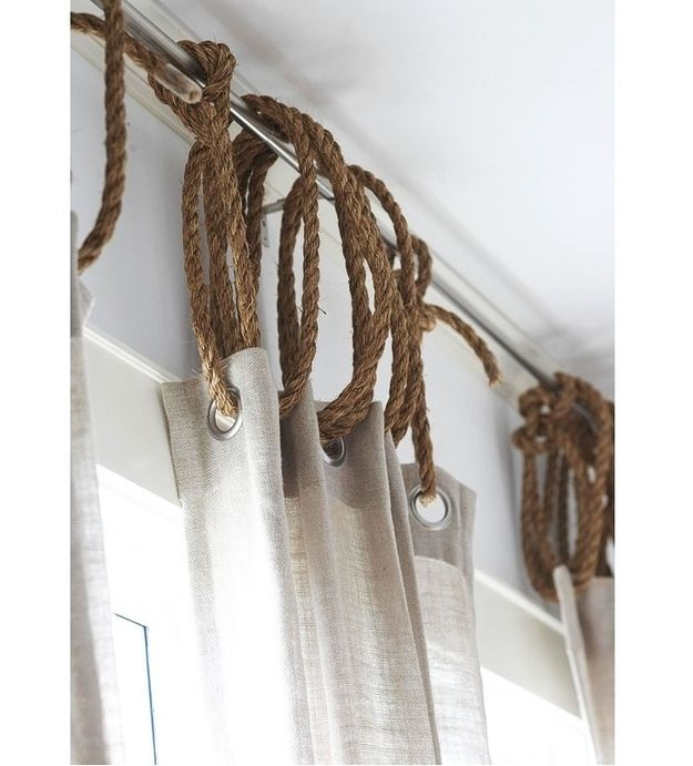D cor nautique d co faire soi m me blogue dessins for Unusual ways to hang curtains