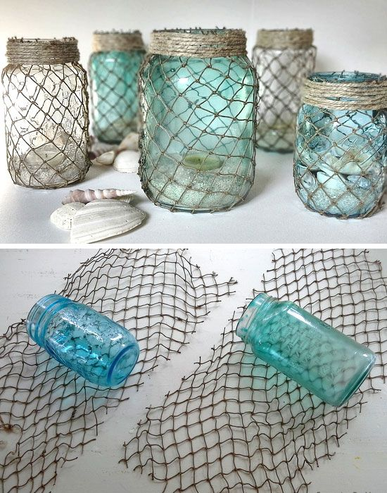 Mason jar DIY nautical inspired home decor !