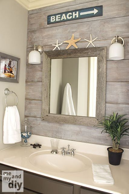 D cor nautique pour la salle de bain blogue dessins drummond for Small coastal bathroom ideas
