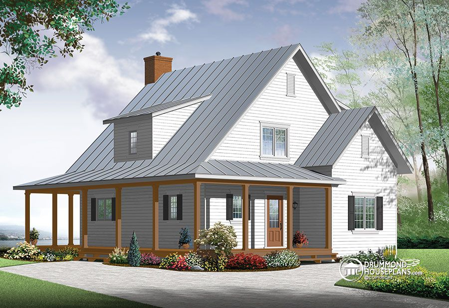 Farm House House Plans Hickory Lane 2 Beautiful and small new modern Scandinavian home plan, 3 to 4 bedrooms