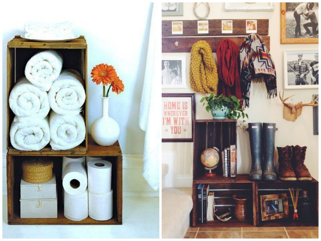 43 diy small storage ideas for your home for Rangement pour petite salle de bain