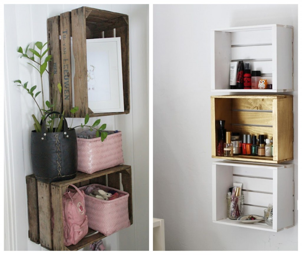 43 diy small storage ideas for your home for Meuble avec bois de grange