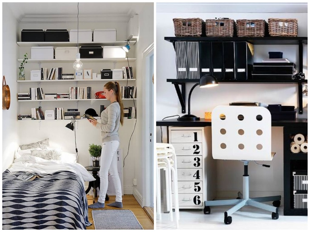 43 diy small storage ideas for your home for Deco chambre pas cher