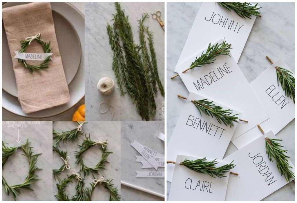 DIY christmas decoration for the dining table