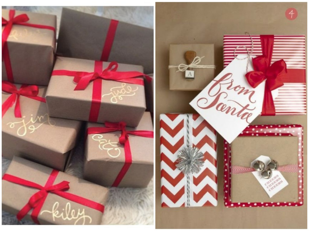 DIY red gift warp