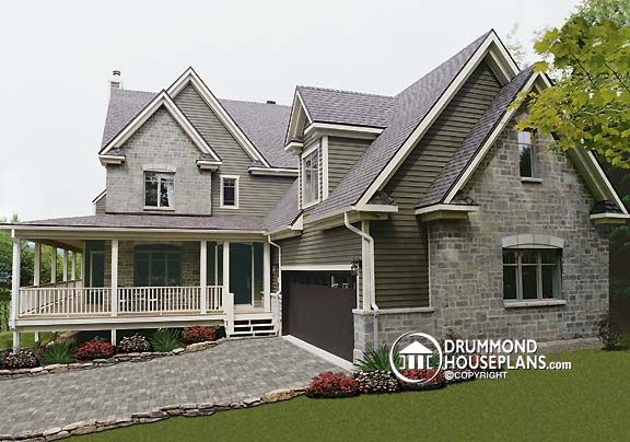Wraparound porch house with photos drummond house plans blog for Traditional farmhouse plans