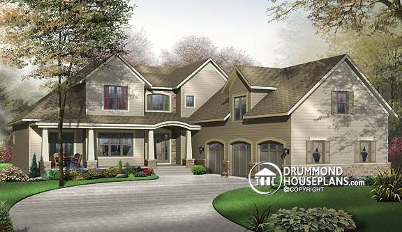 house with master bedroom on main floor. Wraparound porch house with photos   Drummond House Plans Blog