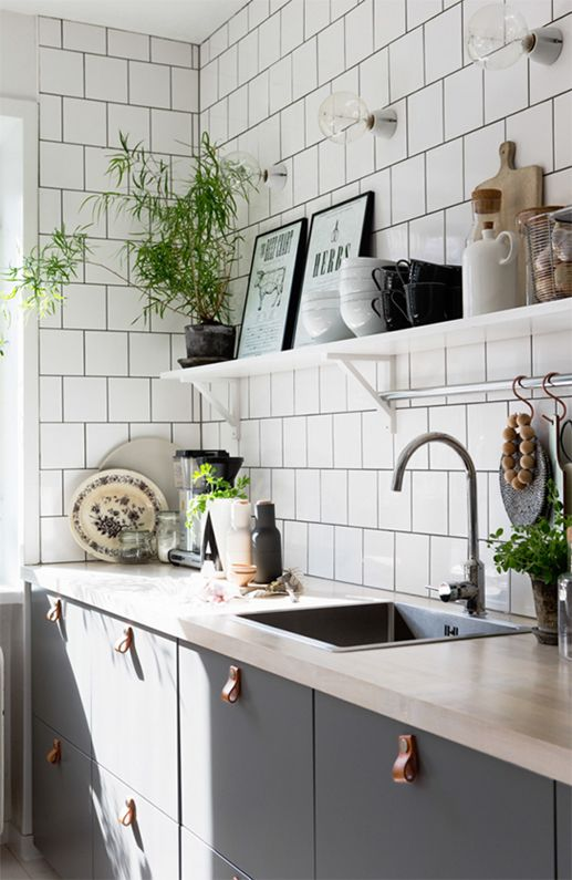 White Subway Tiles For The Kitchen