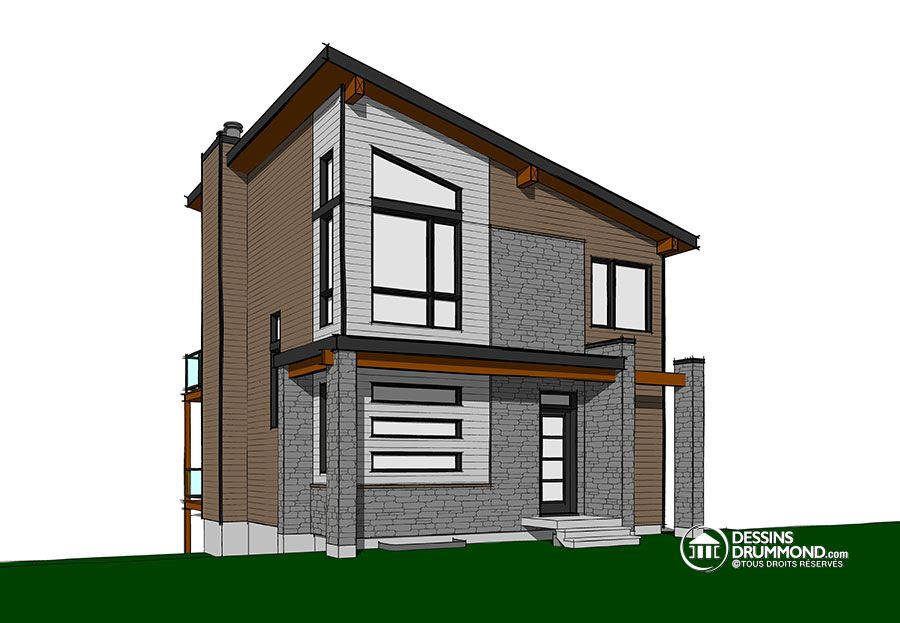 nouveau plan de chalet contemporain dessins drummond