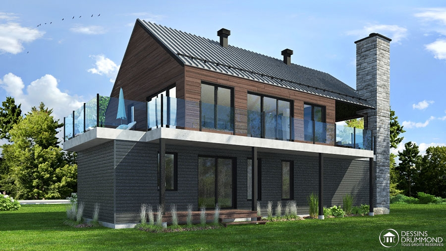 Plan de maison scandinave avec planchers invers s - Maison contemporaine solar solutions design ...