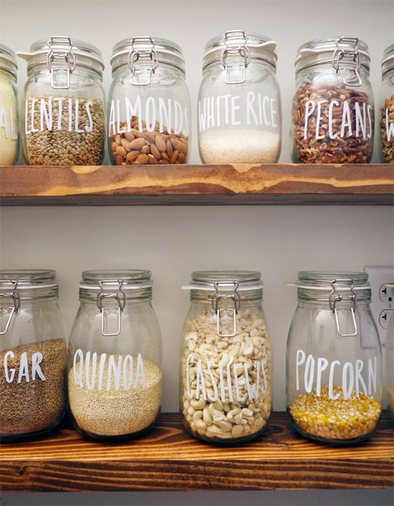 DIY deco kitchen organisation