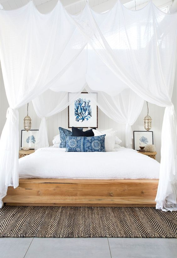 chambre bleu nautical zen