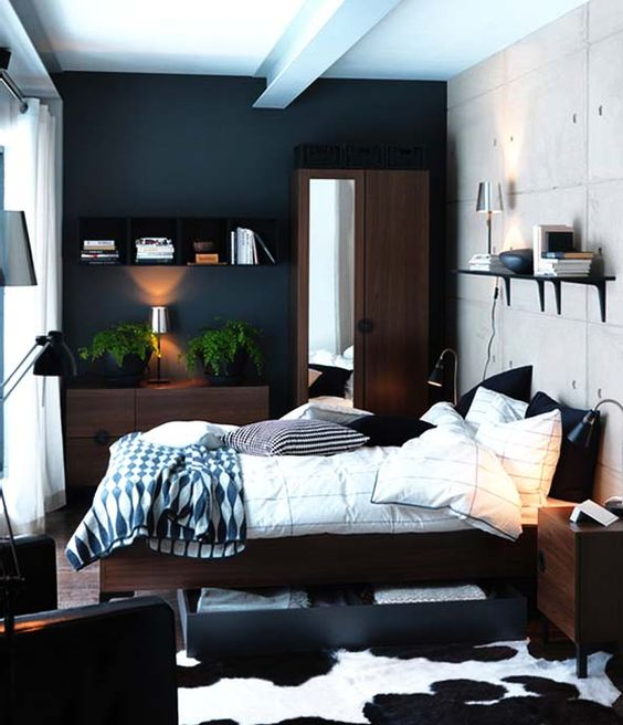 d co appartement pour homme 21 id es de d cor masculin. Black Bedroom Furniture Sets. Home Design Ideas